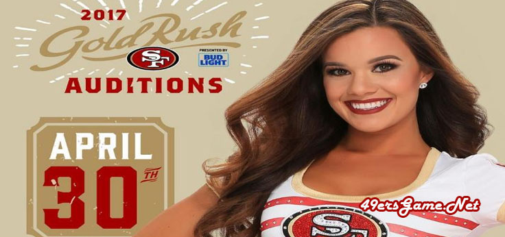 49ers Gold Rush Auditions 30 April 2017