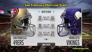 San Francisco 49ers Live Score