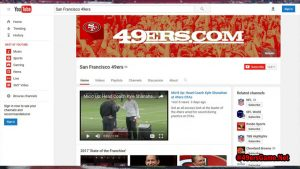 San Francisco 49ers You Tube